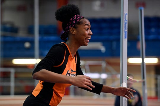 Junior Talia Ferguson of Hasbrouck Heights won four events at Tuesday's NJIC track and field championships at Emerson High School.