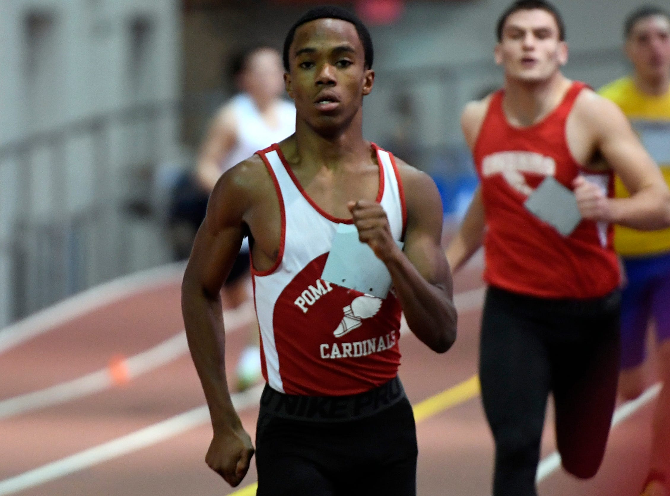 Nathan Armstrong of Pompton Lakes placed second in the 3200-meter race during the NJIC track meet at the Armory Track on Monday, Jan. 7, 2019, in New York.