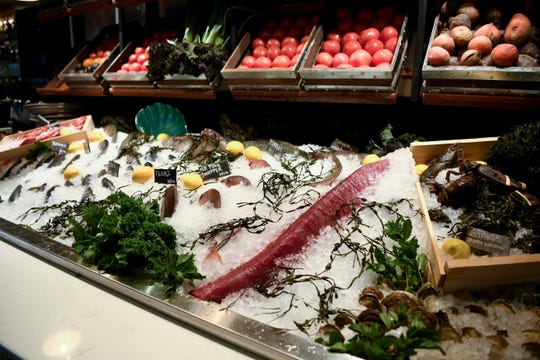 Check out the fresh catch of the day at the raw bar at Lefkes.