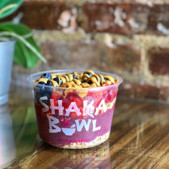 Acai is a super food. The acai bowls at Shaka Bowl are a healthy alternative to ice cream or frozen yogurt.
