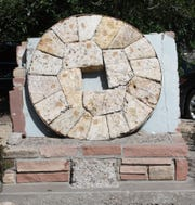 The gristmill stones, Schlaubin Stone, will be in the new exhibit.