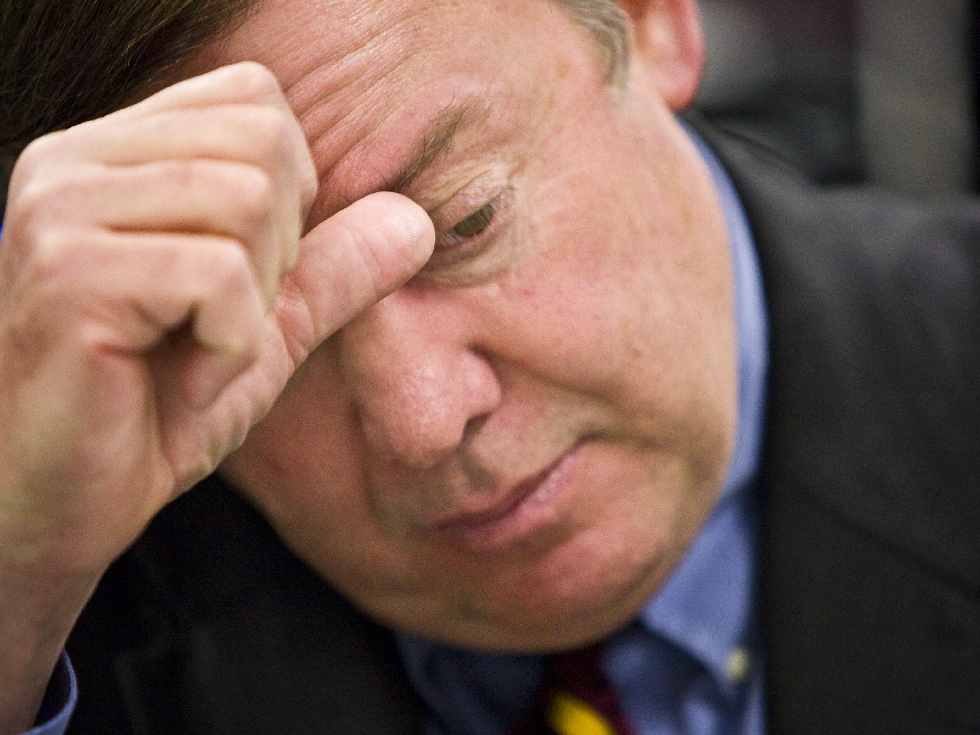 ASU President Michael Crow addresses concerns about the Polytechnic campus's presence in Mesa at a 2010 campus luncheon.
