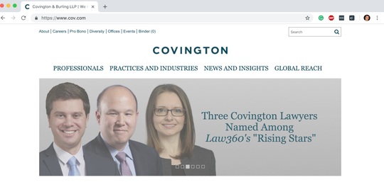 Jon Kyl is back working for Covington & Burling, a Washington, D.C. law and lobbying firm.
