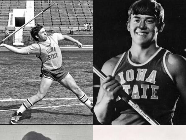 Michael Crow was a javelin thrower at Iowa State in college and a wrestler in high school.