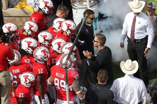 Ncaa Football Kansas At Texas Tech