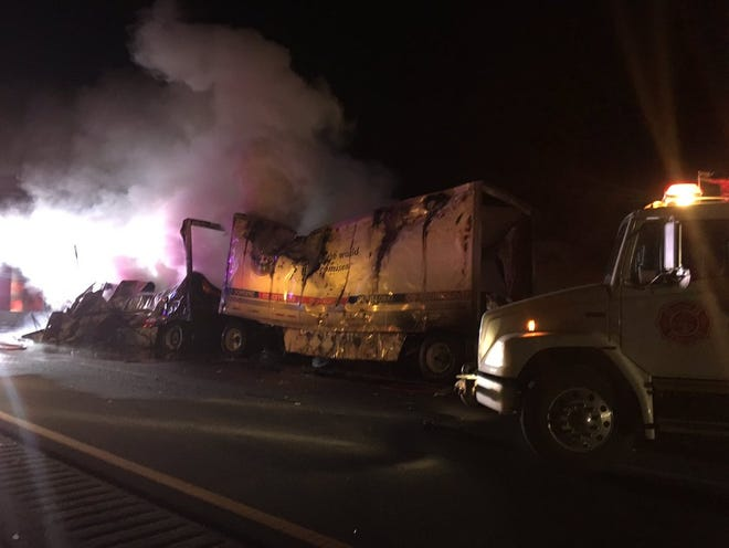 A fatal crash involving multiple vehicles closed westbound Interstate 10 near San Simon in Cochise County on Jan. 8, 2019.