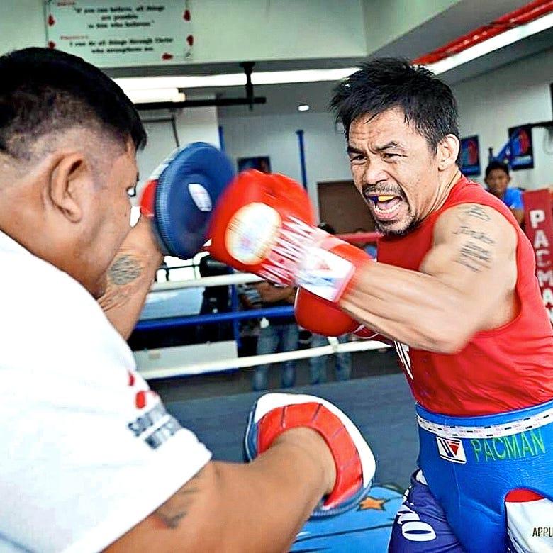 Entrena Manny Pacquiao como un chamaco