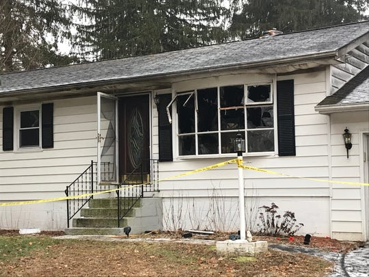 The scene of a fire at 12 Farm Lane in Hyde Park on January 8, 2019.