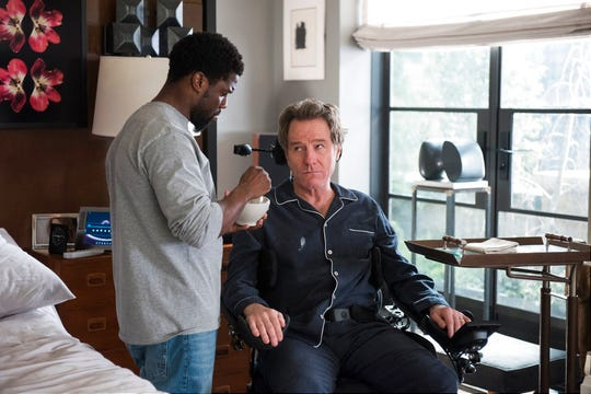 "Kevin Hart, left, and Bryan Cranston star in ""The Upside."" The film opens Thursday, Jan. 10, at Regal West Manchester Stadium 13 and R/C Hanover Movies."