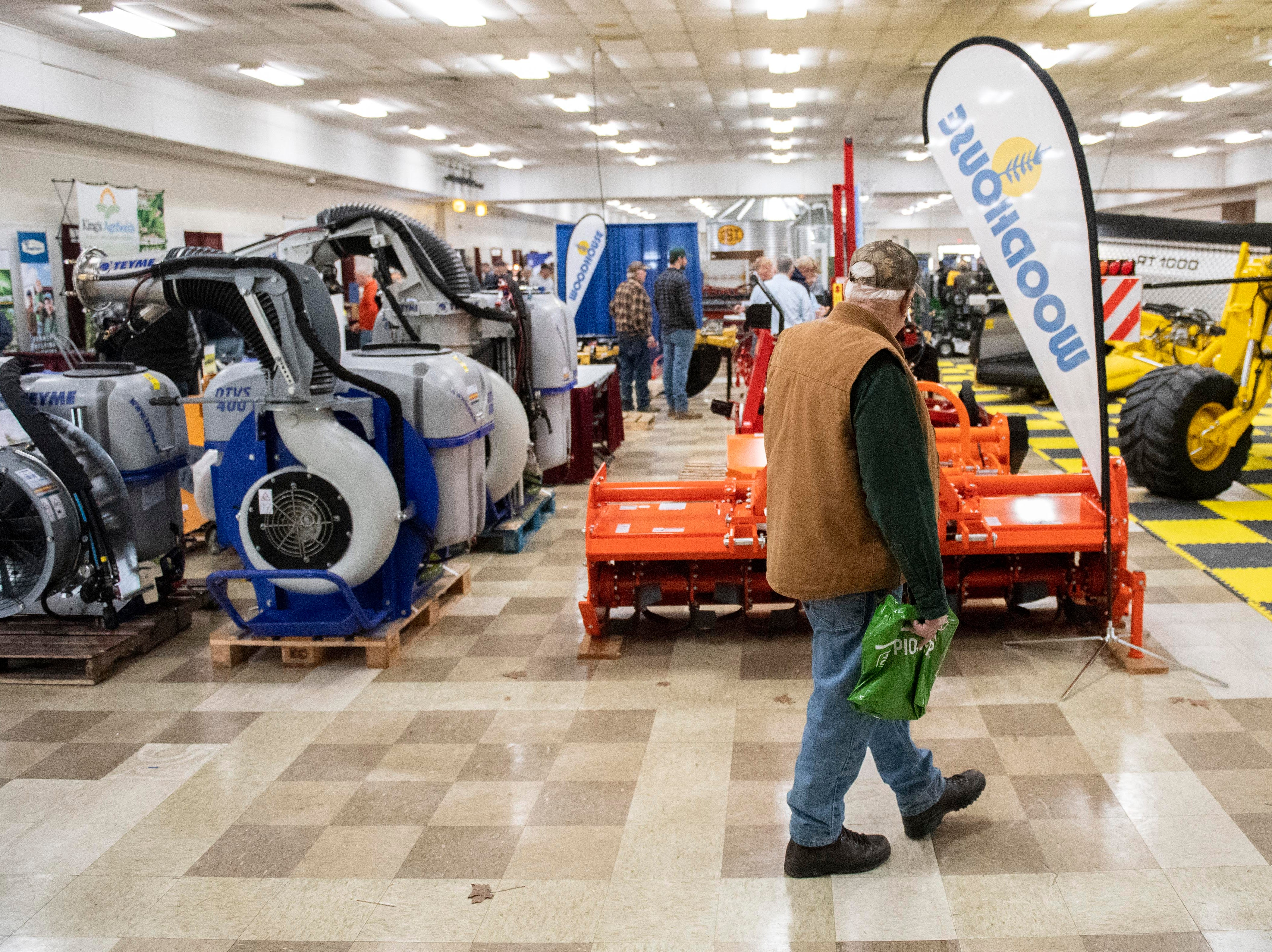 The Keystone Farm Show, at the York Expo Center, has hundreds of farming equipment in 10 different buildings, along with lining the outside, Tuesday, Jan. 8, 2019. The Keystone Farm Show has nearly 420 vendors and is expected to bring up to 15,000 people to the York Expo Center. The show runs through Thursday, Jan. 10.