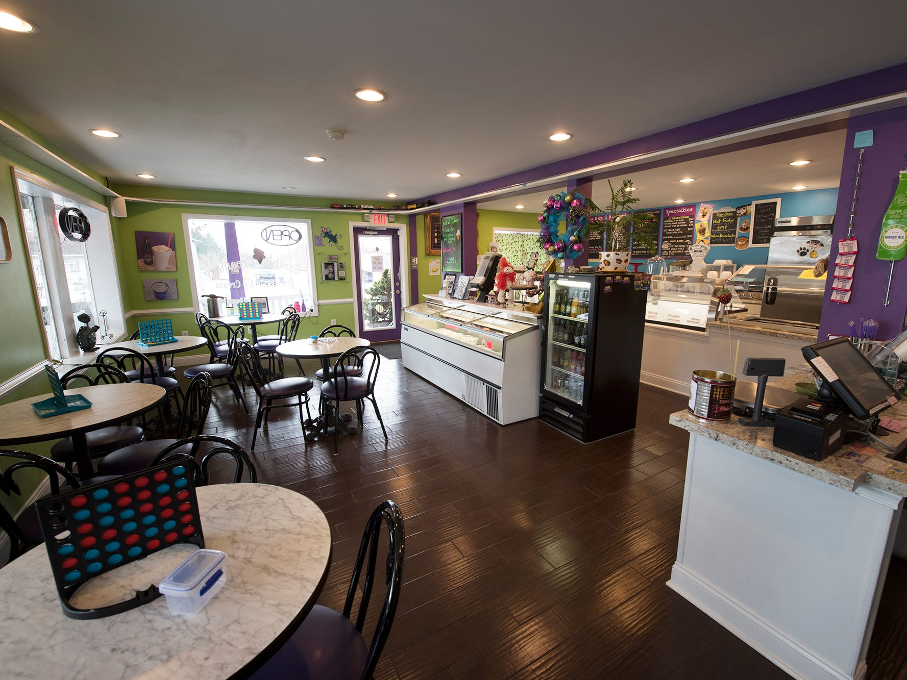The interior of Sarah's Creamery next to Johnny's Raceway Eatery in Dover Tuesday January 8, 2019.