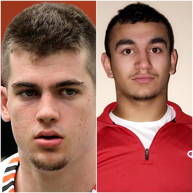Joe Girard III, left, and Ray Leach are the New York State Co-Players of the Year in football for Class B.