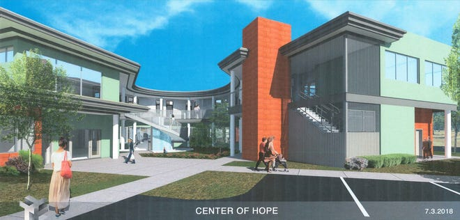 A 2018 artist rendering of the Center of Hope.