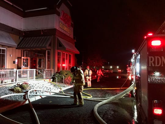 Logan's Roadhouse restaurant in Redding evacuated on Monday night, Jan. 7, 2019 after smoke was spotted coming from the ceiling.