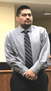 Juan Venegas appears in Shasta County Superior Court on Tuesday as jury deliberations continued.