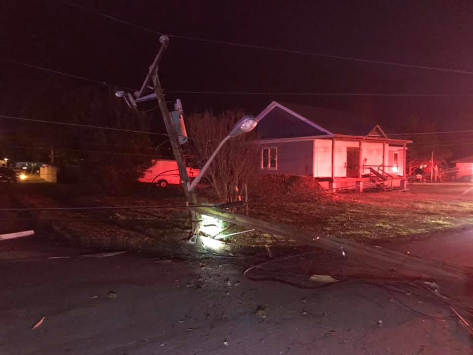 The Onancock Volunteer Fire Department responded to a vehicle crash at a Wachapreague home that ignited a fire and damaged the home Monday.