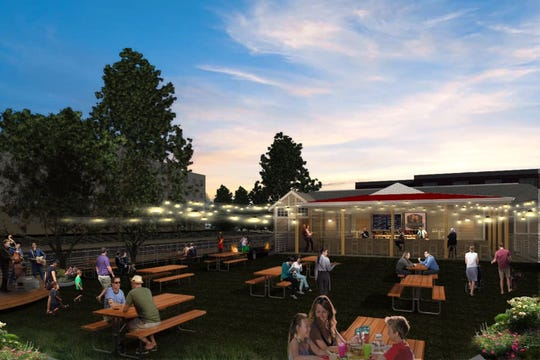 A rendering of Prost Beer Garden coming to Salisbury in 2019. Courtesy of Fisher Architecture.