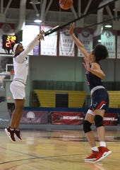 Maryland Eastern Shore's Brooklyn Bailey nails the 3-Point shot against Howard University on Monday, Jan 7, 2018.
