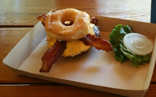 Twisted Root Southern Maid Donut Burger