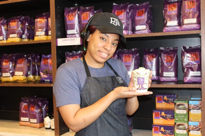 Tiffany Shine, shift leader at PJ's Coffee of New Orleans in Bossier City shares her favorite menu items.