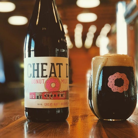 Get a 10 oz. pour of Great Raft's Brewing Cheat Day milk stout, brewed with 400 Southern Maid donuts.