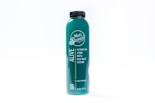Alive cold-pressed juice.