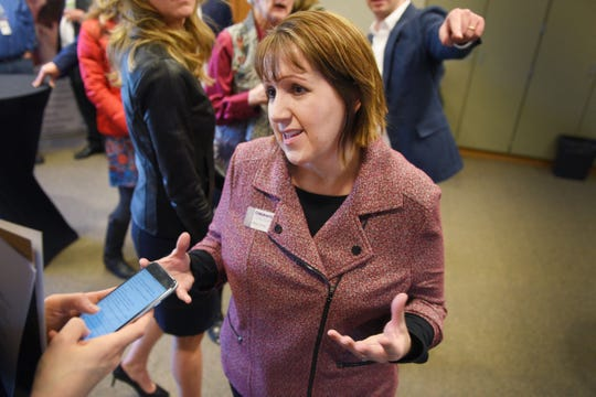 Children's Inn director Amy Carter talks about her reaction to philanthropist T. Denny Sanford donating $55 million to the shelter Tuesday, Jan. 8, in Sioux Falls.