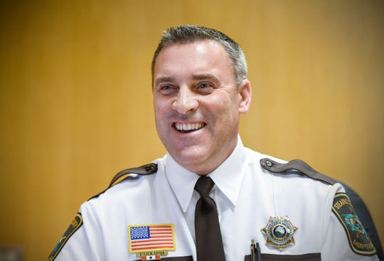 New Stearns County Sheriff Steve Soyka talks about taking over the position Monday, Jan. 7, at the Stearns County Law Enforcement Center.