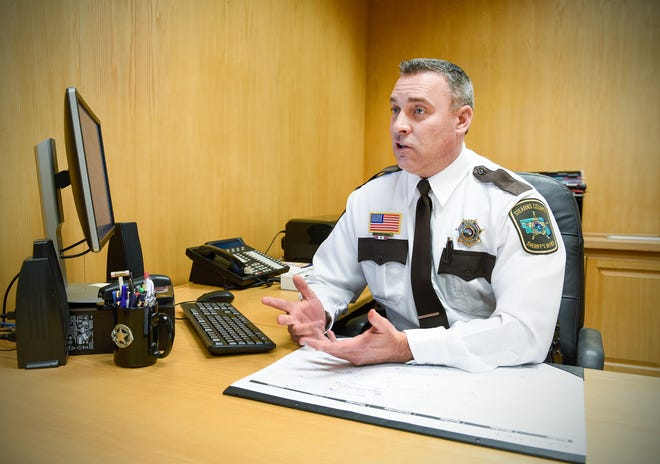 Stearns County Sheriff Steve Soyka talks about taking over the position in this Jan. 7, 2019, file photo taken at the Stearns County Law Enforcement Center.
