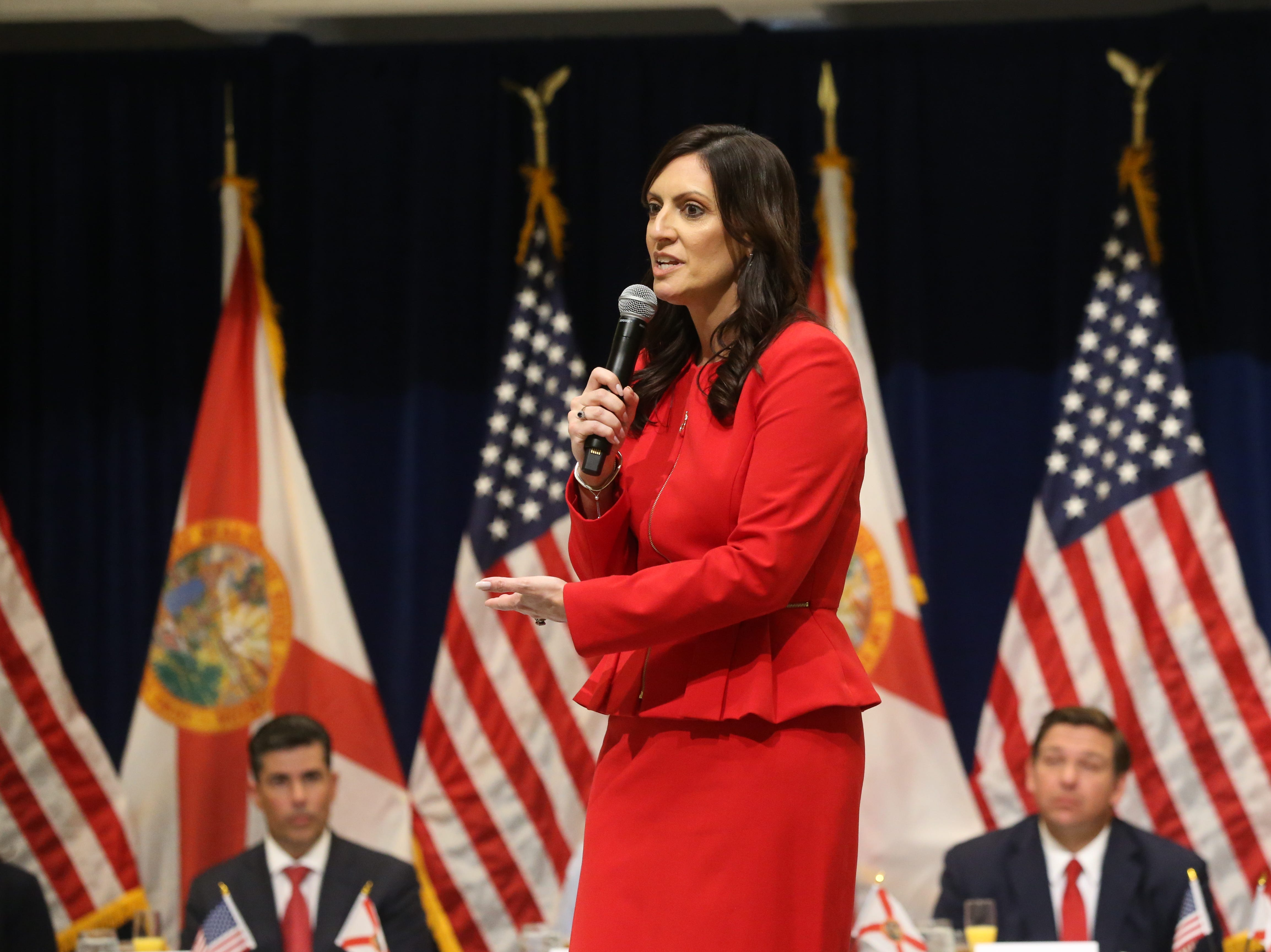 For the first time in Inaugural history, Gov. Ron DeSantis addresses FloridaÕs Legislative leaders and Cabinet officials. DeSantis discusses his plans to work with our stateÕs elected leaders to achieve a Bold Vision for a Brighter Future, Tuesday, Jan. 8, 2019. Lt. Gov. Jeanette Nunez gives a short speech before introducing Gov. Ron DeSantis.