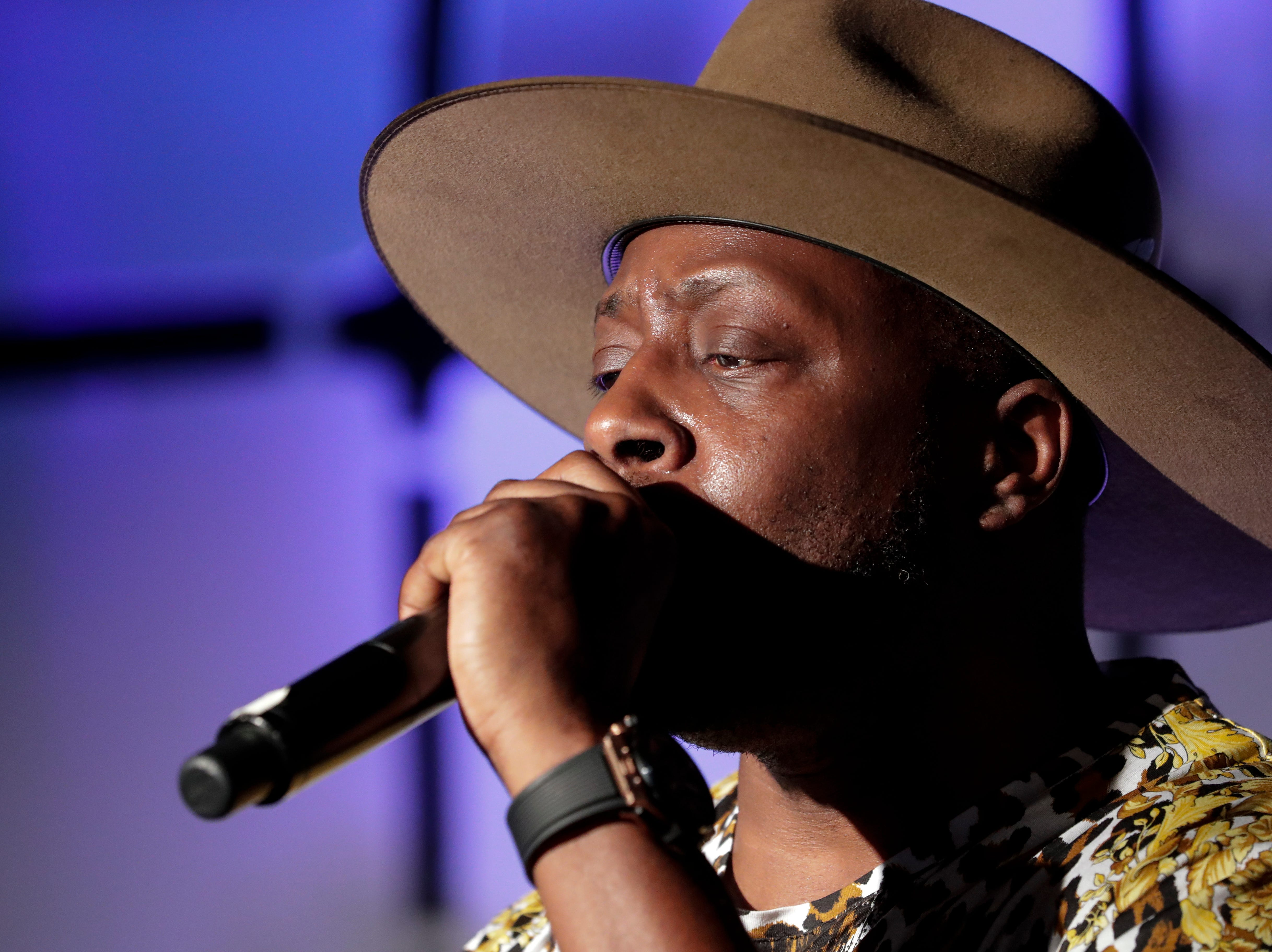 """Wyclef Jean performs during the """"Growing a Stronger Florida"""" Inaugural Celebration honoring Agriculture and Consumer Services Nikki Fried Commissioner in the University Center Club at Florida State University Monday, Jan. 7, 2019."""