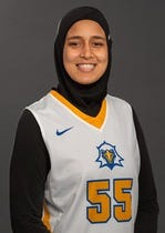 TCC freshman Nesma Khalifa is the first Egyptian-born player to suit up for the Eagles.