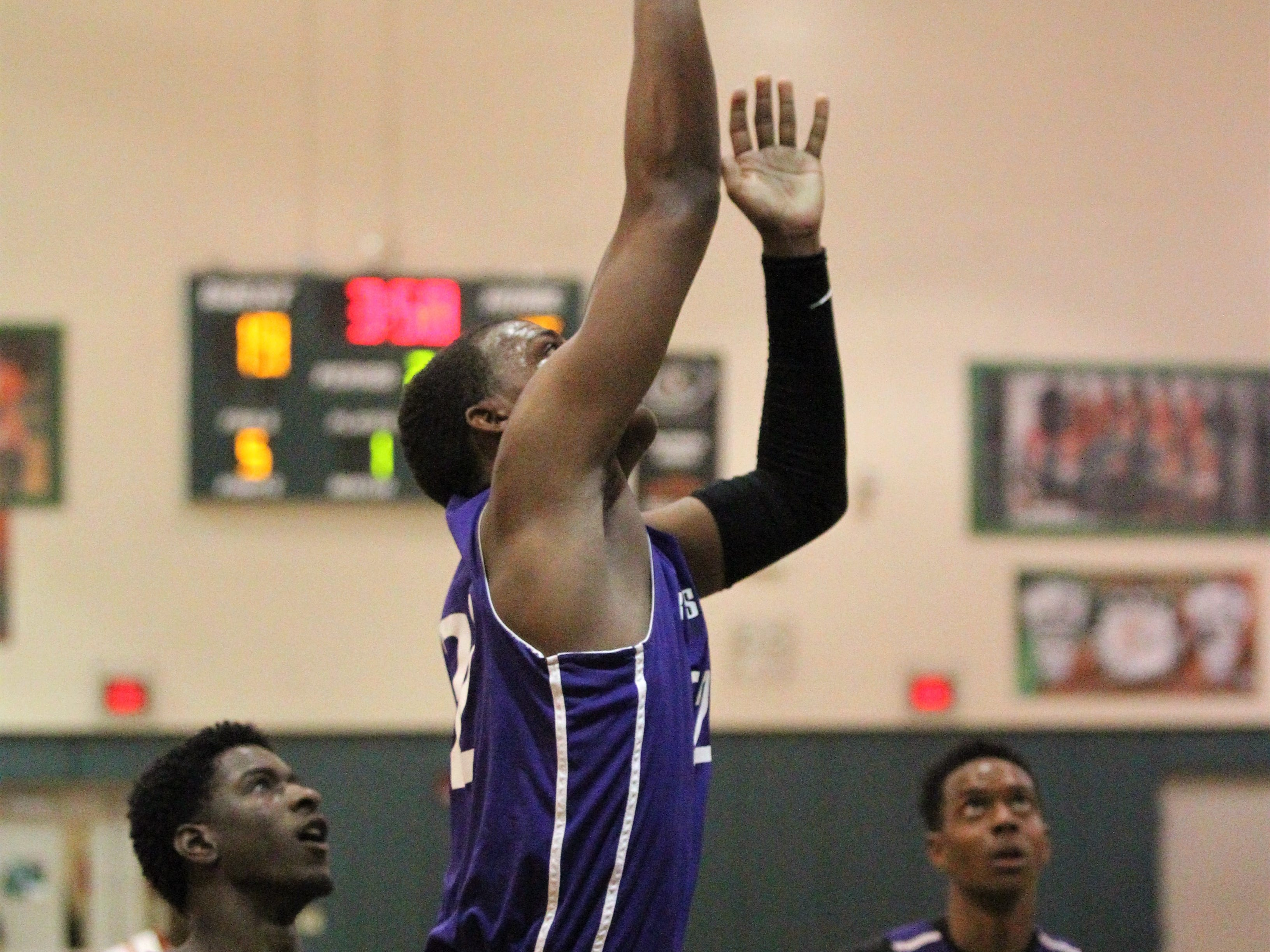 Dedric Streeter goes up for a layup as Crossroad Academy's boys basketball team plays at FAMU DRS on Jan. 7, 2019.