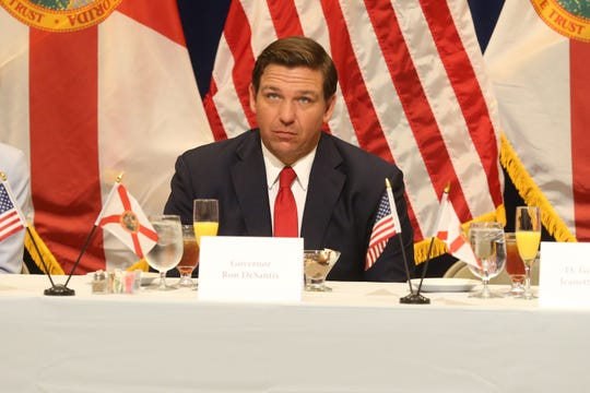 For the first time in Inaugural history, Gov. Ron DeSantis addresses Florida's Legislative leaders and Cabinet officials. DeSantis discusses his plans to work with our state's elected leaders to achieve a Bold Vision for a Brighter Future, Tuesday, Jan. 8, 2019. Gov. Ron DeSantis listens to Lt. Gov. Jeanette Nunez speak at the luncheon.