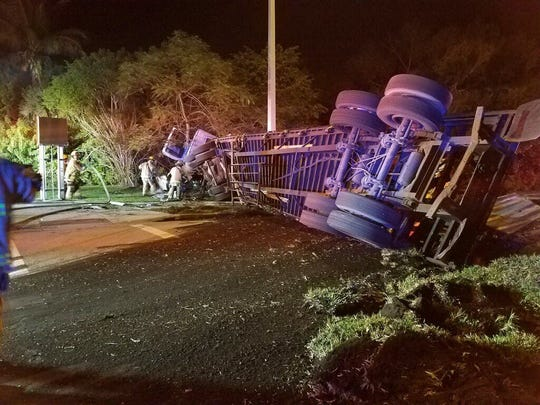 A rollover crash at 8th Street and 27th Avenue  closed traffic in all directions Tuesday morning.