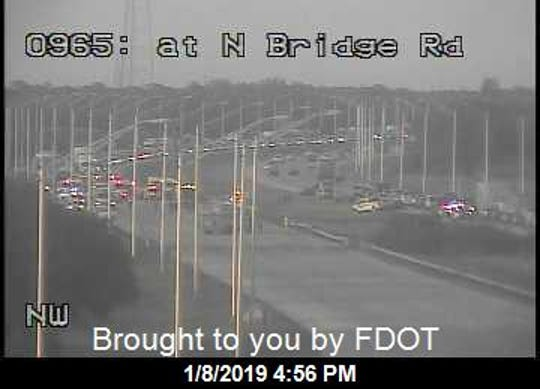 All southbound lanes were blocked after a crash on I-95 near Southeast Bridge Road in Hobe Sound on Tuesday, Jan. 8, 2019.