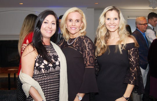 Jennilee Perez, left, Carol Anderson, Ashley Mock at Admirals Cove in Jupiter for the VIP kick-off reception for the American Cancer Society's 2019 Celestial Gala.