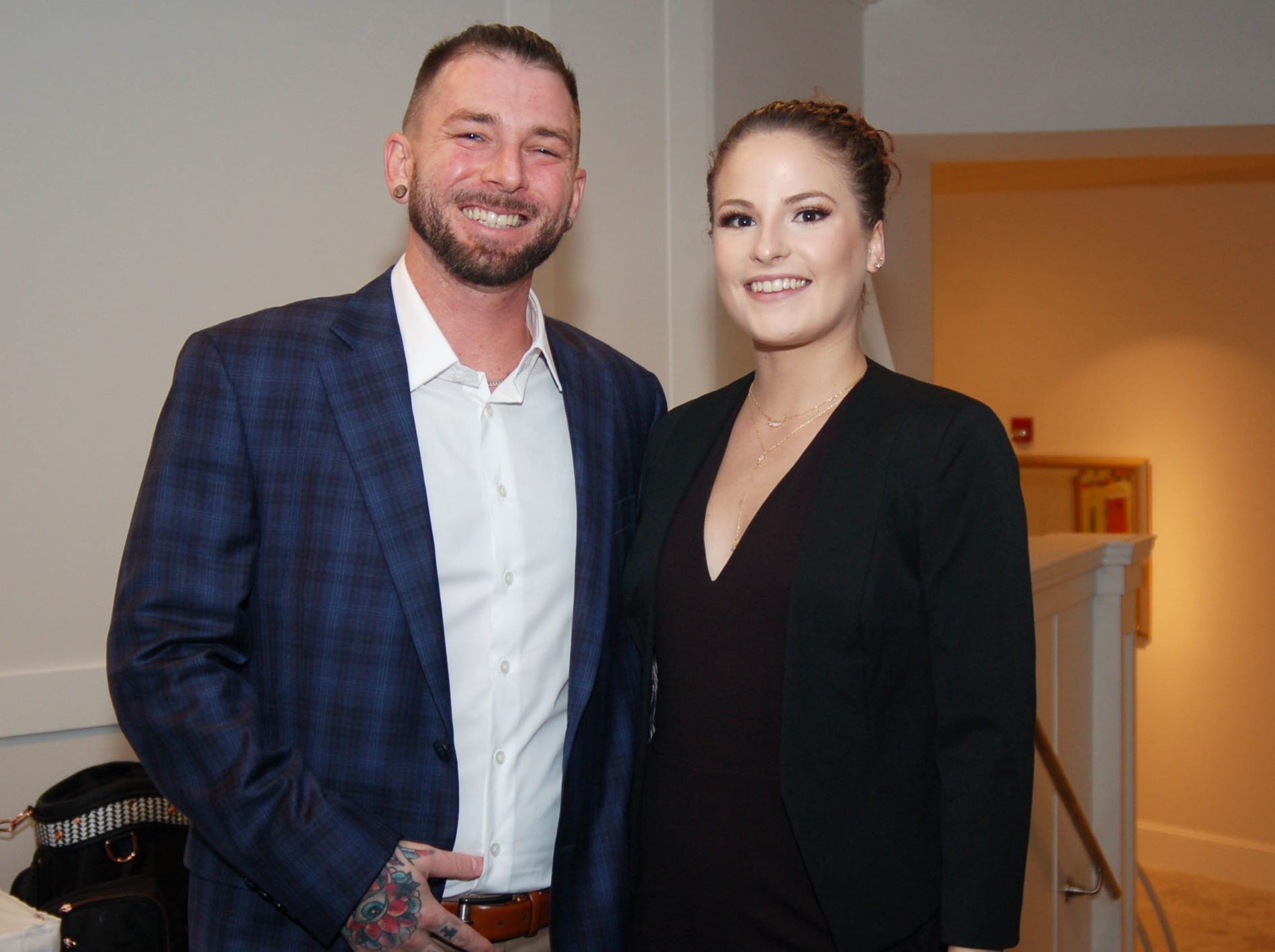 Blake and Danielle Rothmel at Admirals Cove in Jupiter for the VIP kick-off reception for the American Cancer Society's 2019 Celestial Gala.