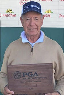 Nunzio Ciampi of Palm City, 82, is the defending champion of his age group at this week's PGA Half Century Championship at PGA Golf Club.