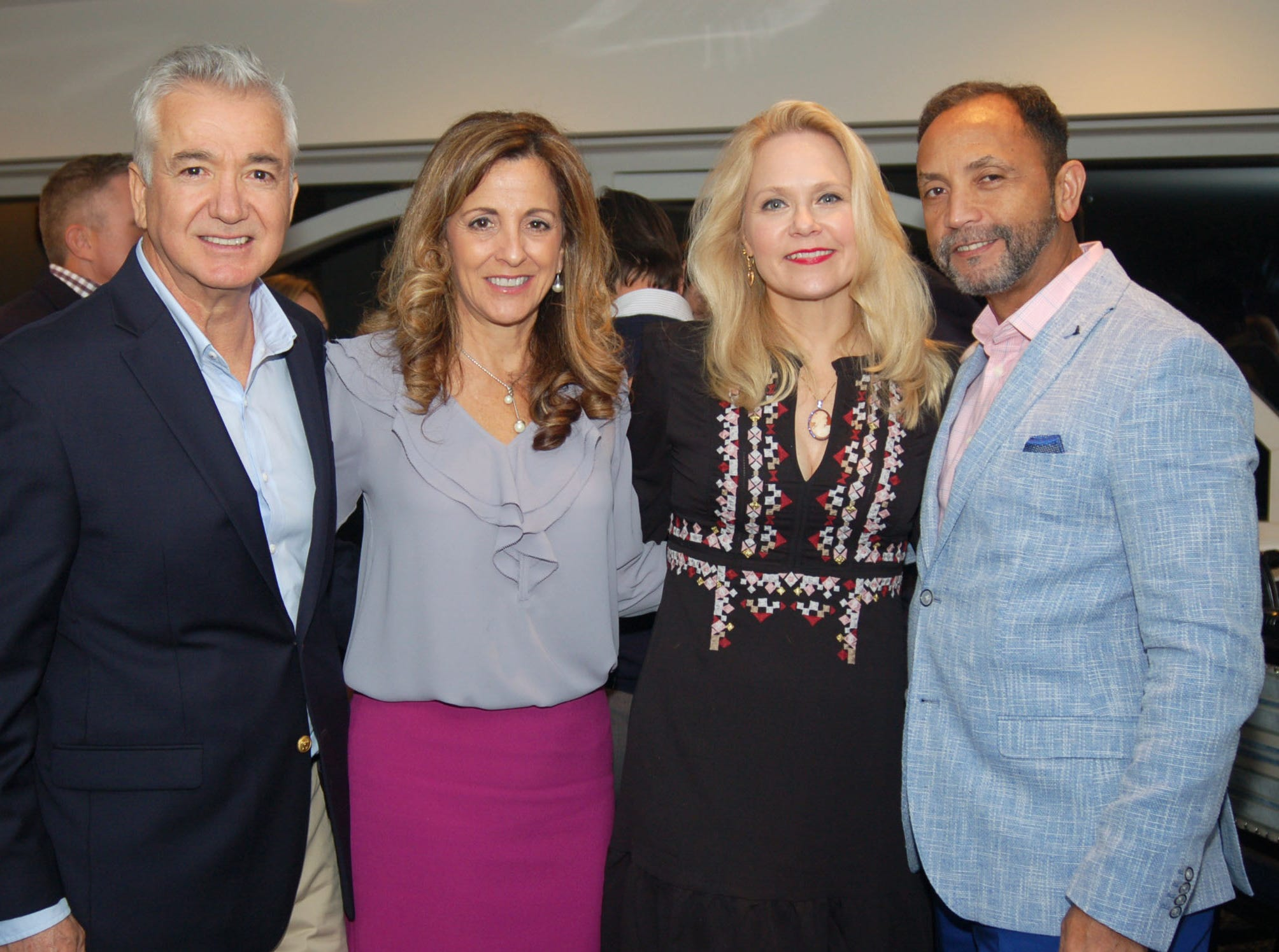 Ed and Judy Magalhaes, left, Liv Vesely and Jerson Diaz at Admirals Cove in Jupiter for the VIP kick-off reception for the American Cancer Society's 2019 Celestial Gala.