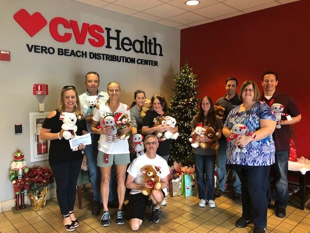 CVS Distribution Center of Vero Beach employees donated toys and gifts for the teens living at the Hibiscus Village in Vero Beach.