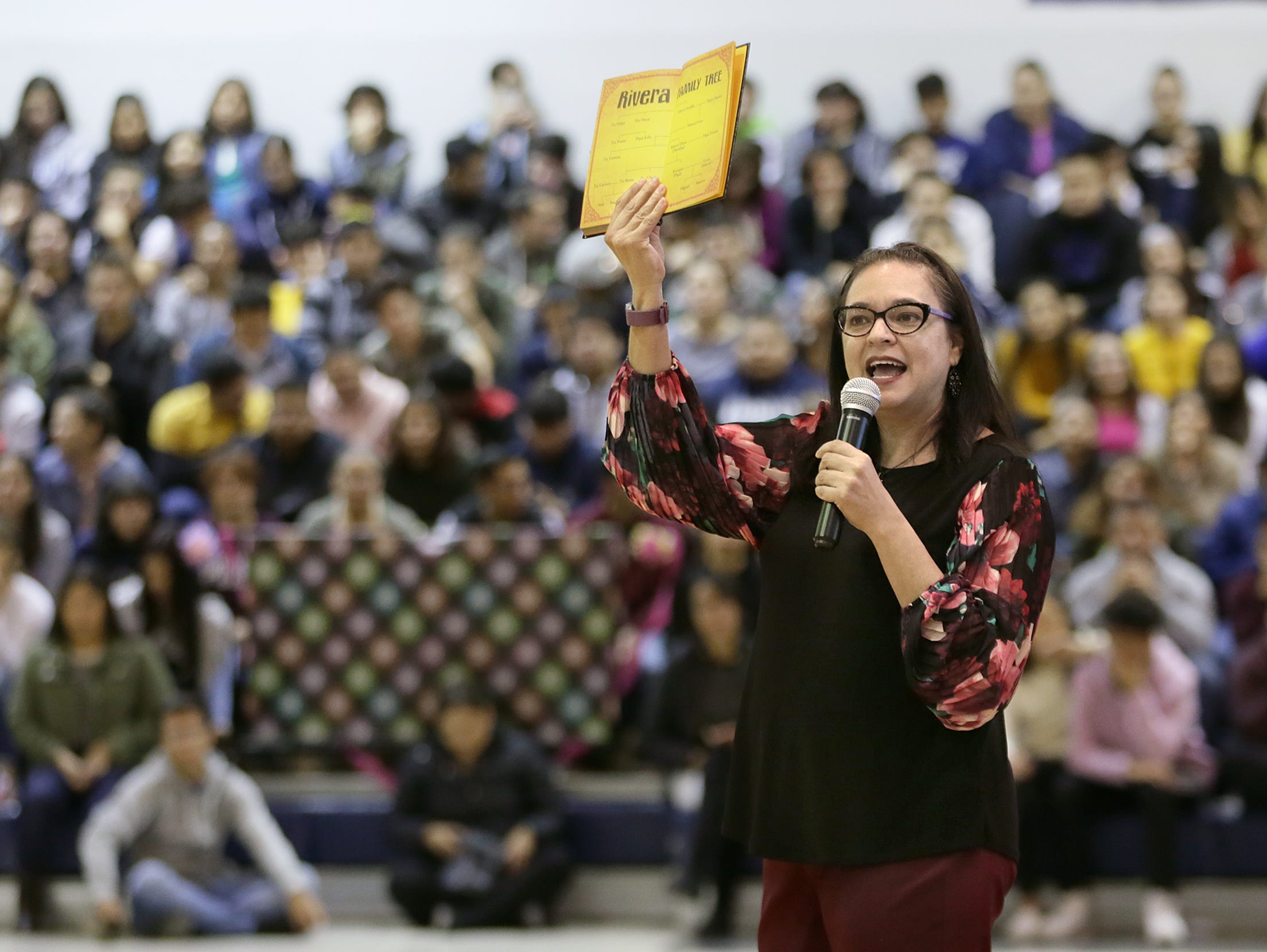 "Diana Lopez who wrote the book adaptation of Coco is visiting area schools on behalf of the anti-bullying organization Lucid Love. Lopez spoke on not giving up after you've heard ""no"" several times. Lopez used several examples of successful hispanics in America to deliver her message of perseverance."