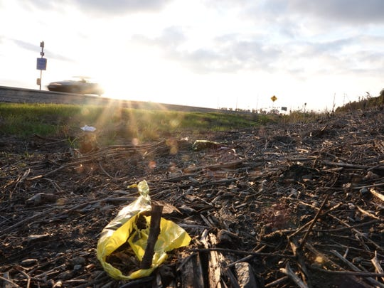 Yellow police tape remained on the westbound shoulder of Fifth Street, east of Pleasant Valley Road, at sunset Monday. A head-on crash killed one man around 6:20 a.m. at the site south of Camarillo.