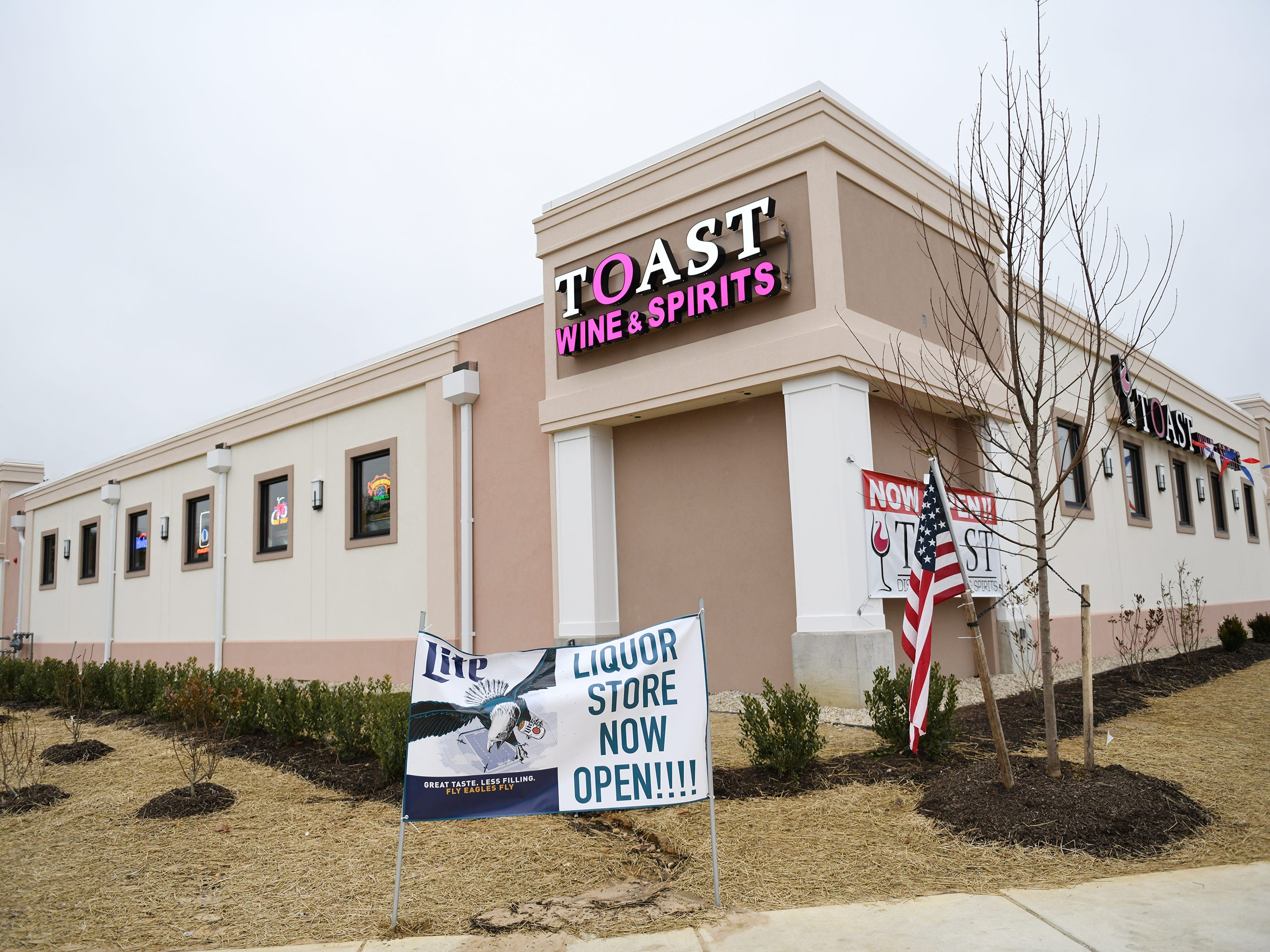 Toast Wine and Spirits is located in front of The Brass Tap at the corner of South Delsea Drive and Sherman Avenue in Vineland.