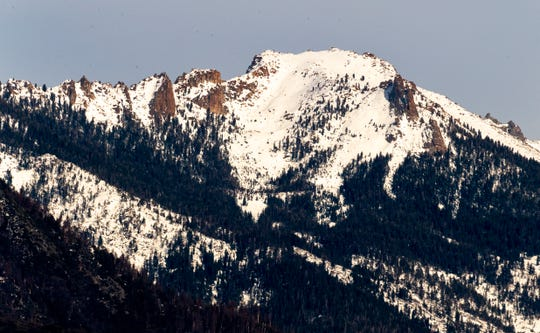 View of the Sierra Mountain Range as seen from Sierra Lodge in Three Rivers on Tuesday, January 8, 2019.