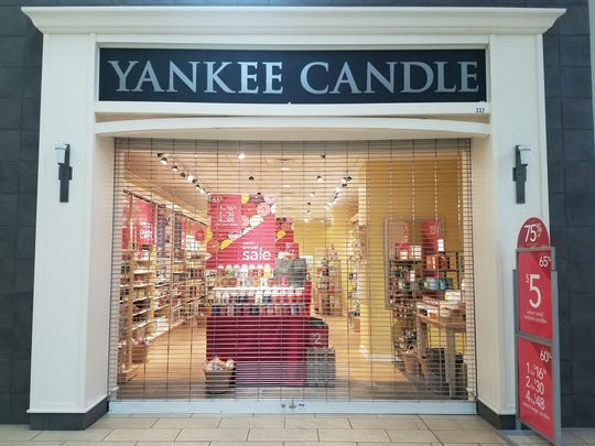 The Yankee Candle storefront in the Wausau Center Mall is closing Jan. 26, 2019.