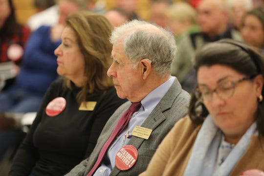 Ramapo Officials hold meeting to discuss what properties the town is willing to sell and is open to residents to voice their opinions at Ramapo Town Hall in Airmont Jan. 7, 2019.  The town faces a deficit estimated at 8.5 million.