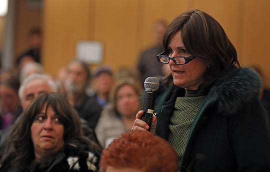 Dora Green gives her opinions about four properties Ramapo Officials would like to sell during an open forum at Ramapo Town Hall in Airmont Jan. 7, 2019.