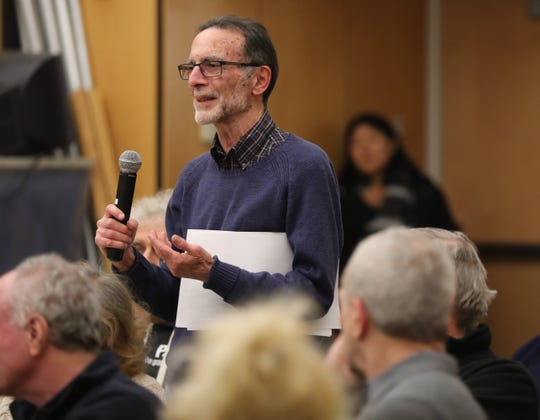 Mathew Pickler gives his opinions about four properties Ramapo Officials would like to sell during an open forum at Ramapo Town Hall in Airmont Jan. 7, 2019.