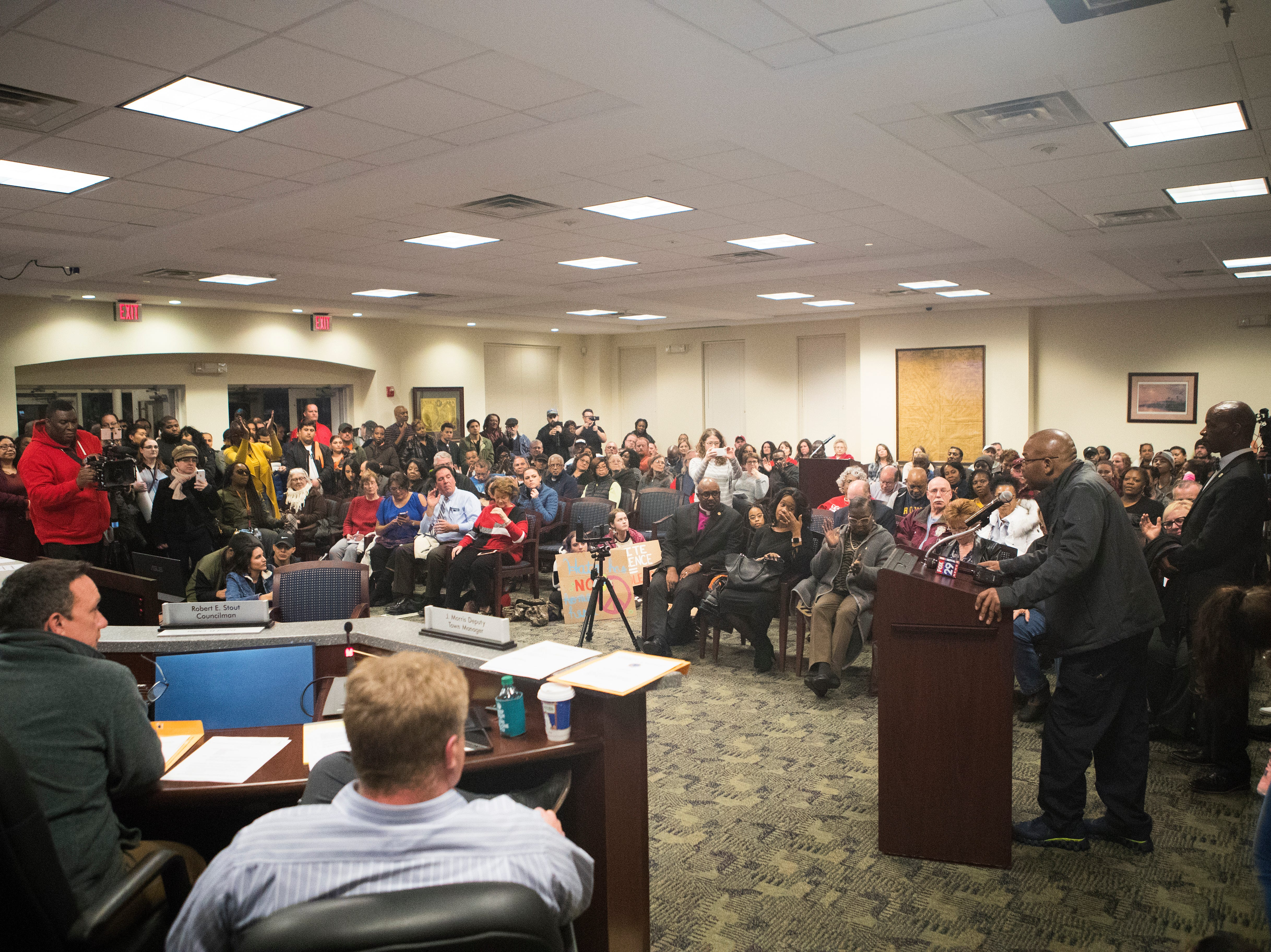 The Middletown City Council Chambers were standing room only as the public came out to oppose the recent Hummers Parade in Middletown Monday night.